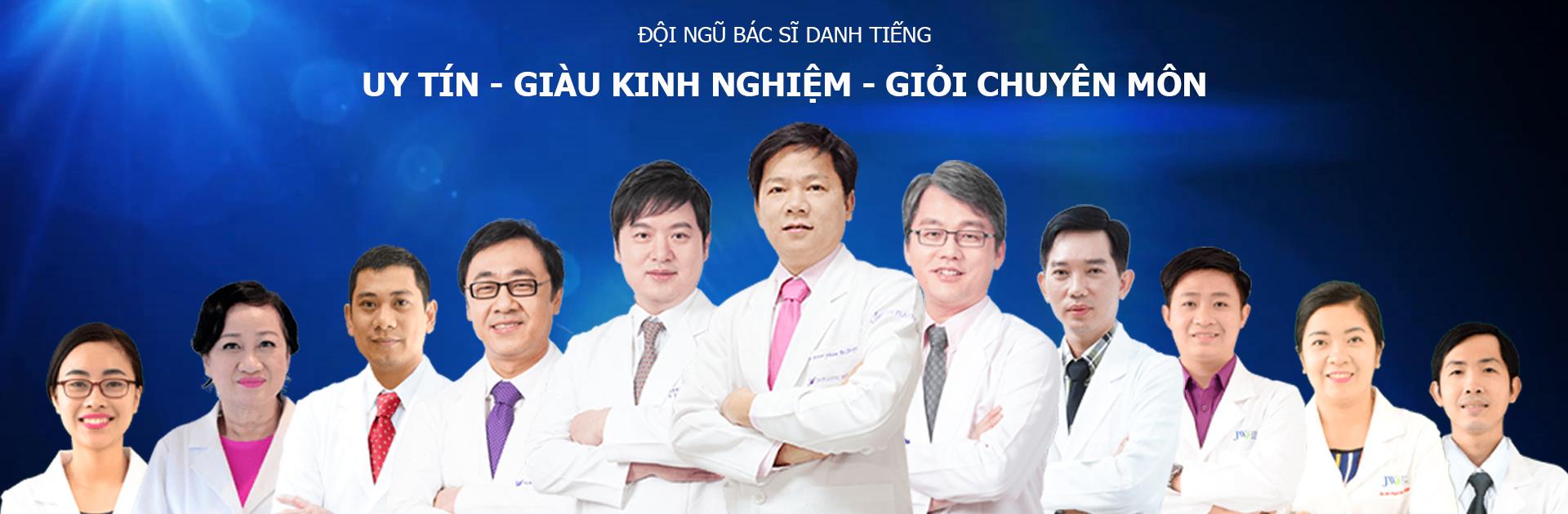 Đội ngũ bác sĩ Việt - Hàn trình độ cao tại JW