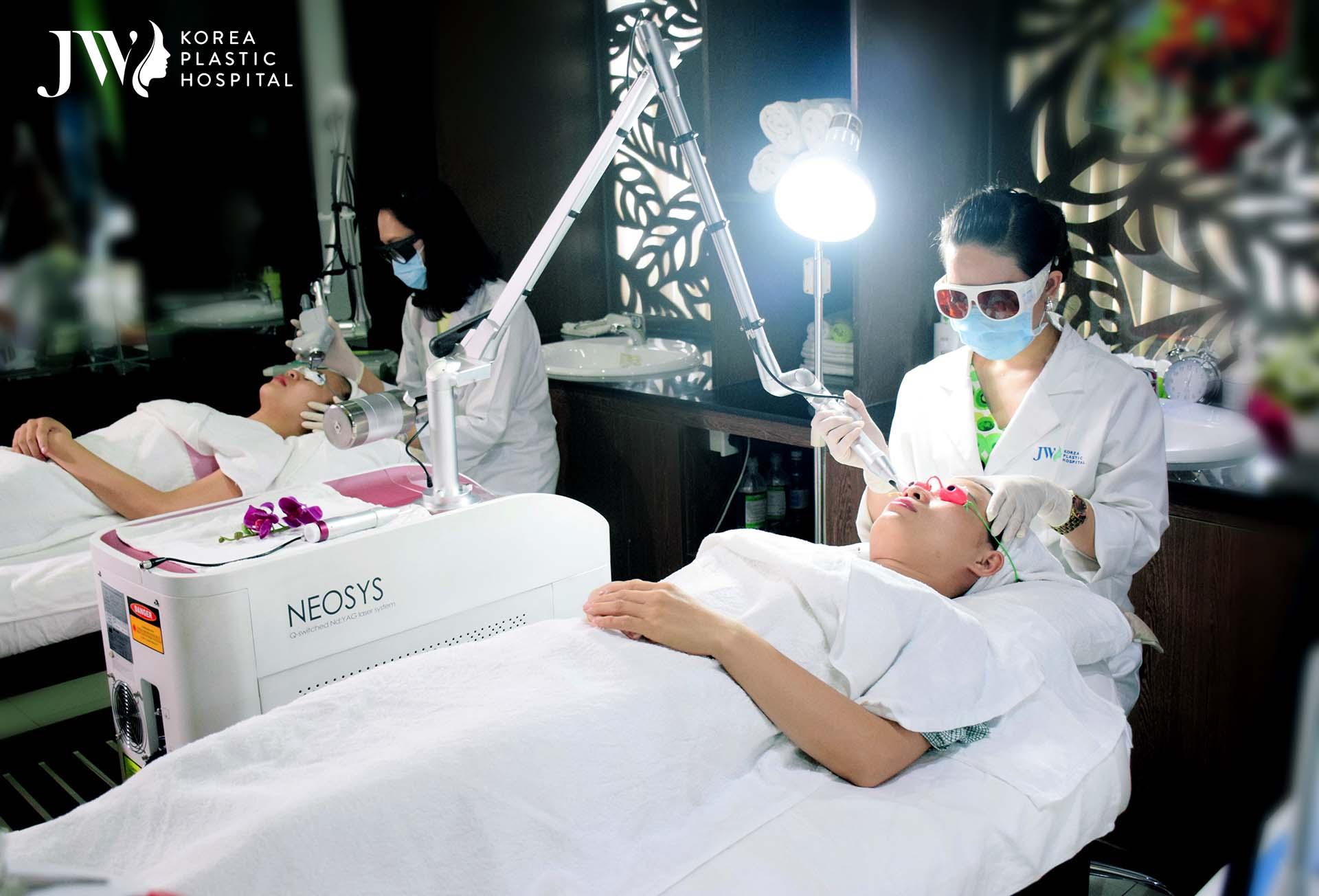JW Skincare Center áp dụng công nghệ Laser Neosys tiên tiến chăm sóc và mang lại cho bạn làn da trẻ hóa